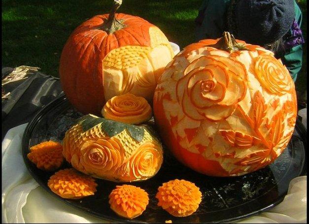 Pumpkins decorative delicious humongous high flying